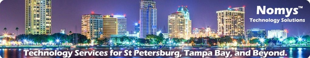 Downtown Saint Petersburg, Florida. Tagline: Technology Services for Saint Petersburg, Tampa Bay and Beyond.